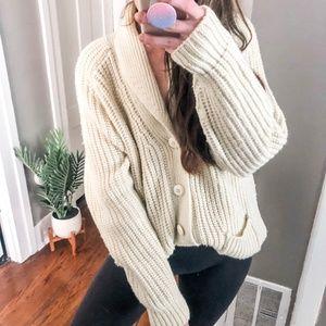 Bohemian Chunky Fisherman Sweater a6*